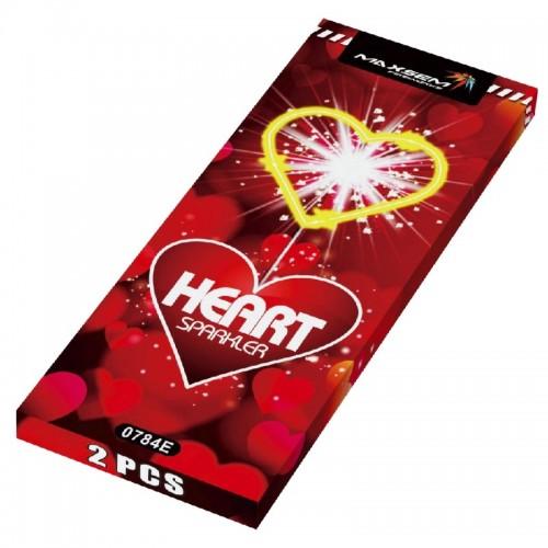 """Бенгальские огни """"HEART SPARKLER"""" 2 шт"""