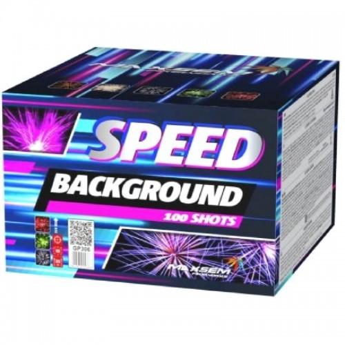 """Батареи салютов """"SPEED BACKGROUND"""" 100 залпов"""